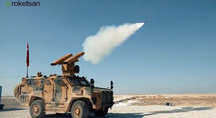 Sungur Hava Savunma Sistemi testlerde hareketli hedefi vurdu