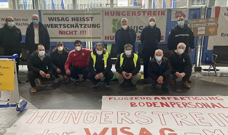 Frankfurt Havalimanı'nda işten çıkarılan işçiler açlık grevinde