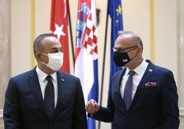 Çavuşoğlu - Hırvatistan Dış ve Avrupa İşleri Bakanı Gordan Grlic Radman