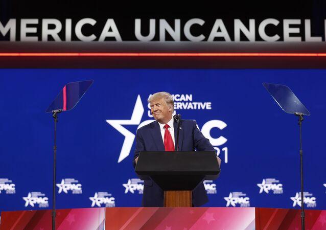 ABD'nin eski Başkanı Donald Trump, Kasım 2020'deki başkanlık seçimlerinden sonra ilk kez konuşma yaptı.