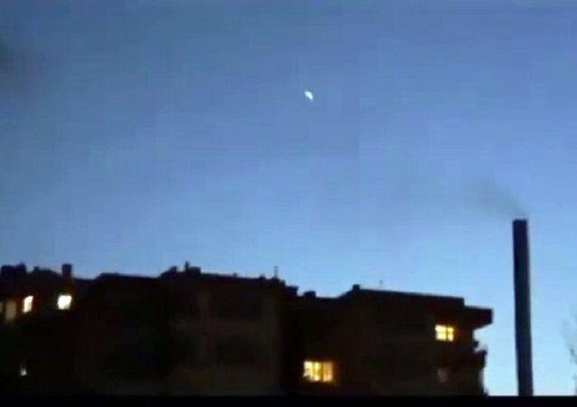 İstanbul'da meteor