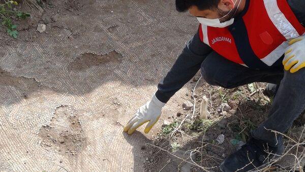 Şanlıurfa`da izinsiz kazıda ortaya çıkan Roma dönemine ait mozaikler korumaya alındı - Sputnik Türkiye