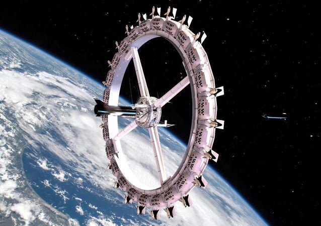 Tekerlek şekline sahip olacak uzaydaki ilk otel Voyager Station proje görünümü