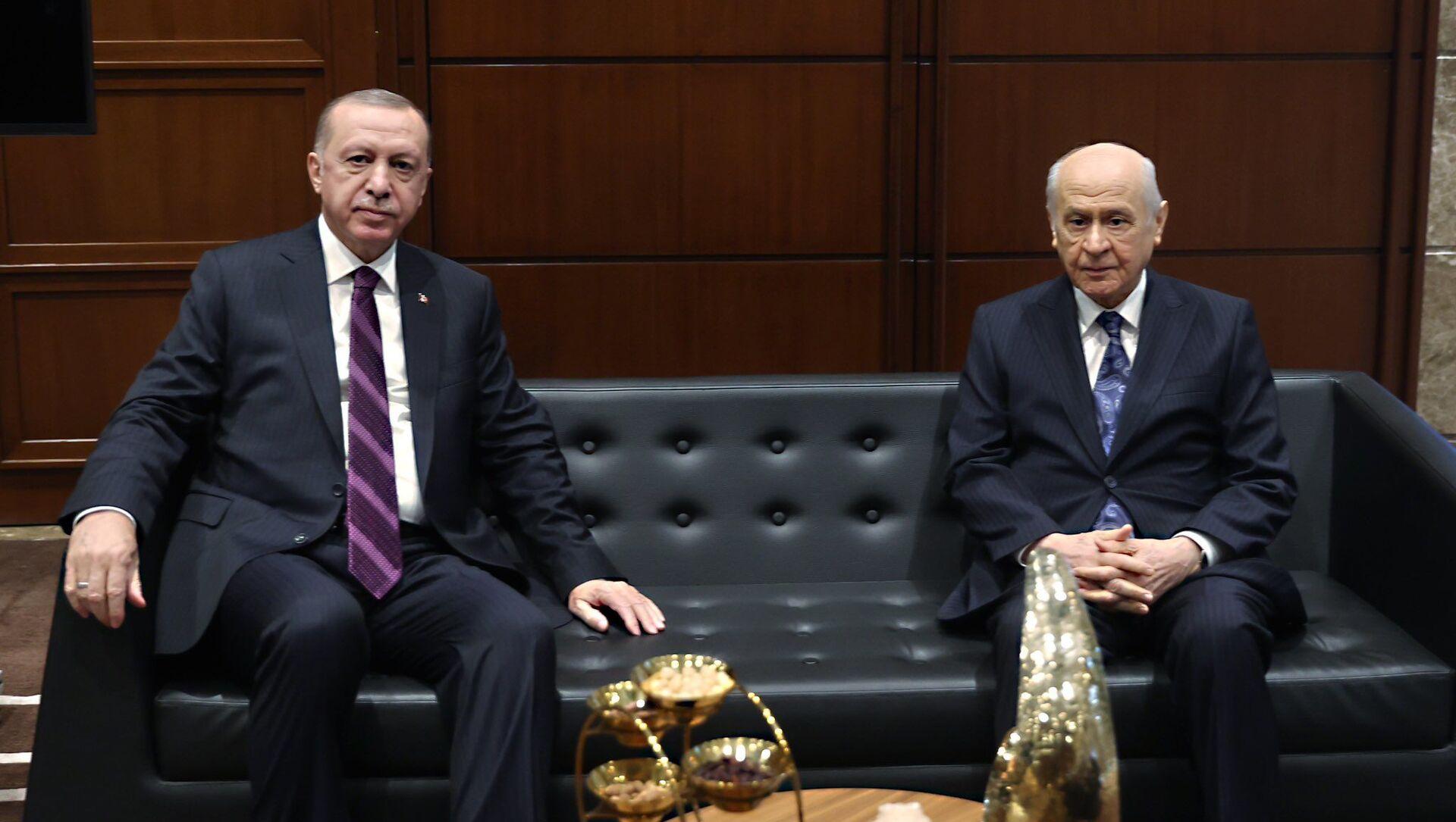 Cumhurbaşkanı Erdoğan, MHP lideri Bahçeli ile görüştü - Sputnik Türkiye, 1920, 26.07.2021