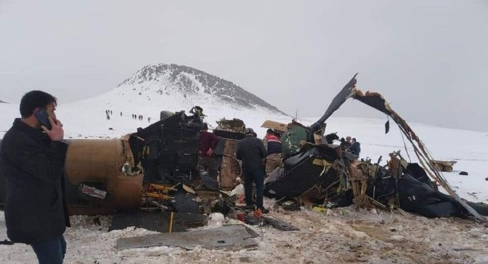 Bitlis'te düşen helikopter