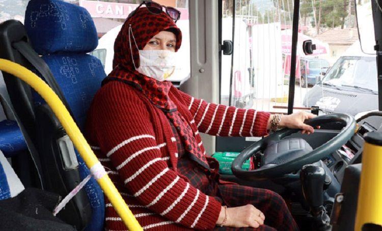 Otobüs şoförü Aysel Gürdal