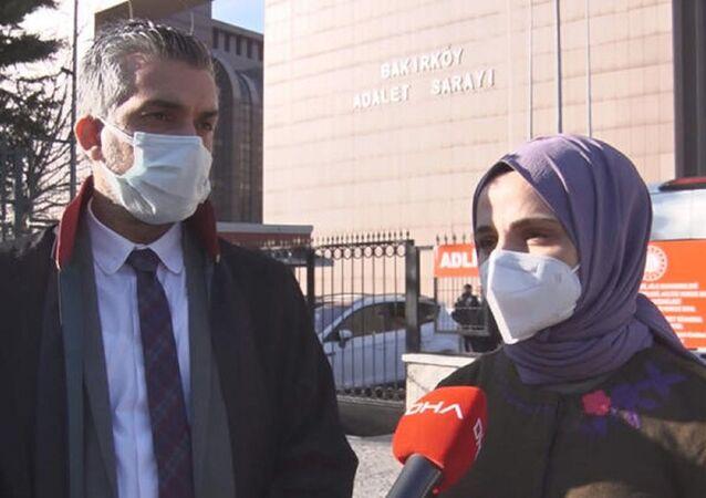 Diş hekimi Tuğba Taşkın Öztürk ve avukatı Reha Öztürk