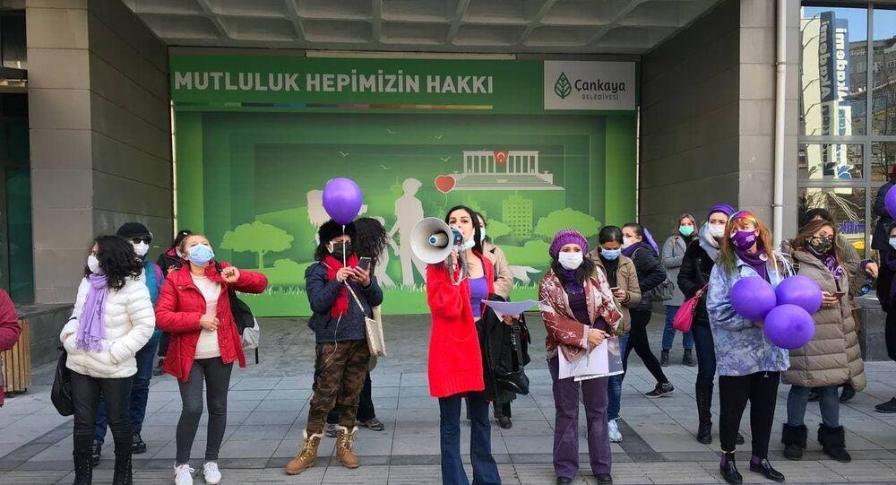 Ankara'da kadınlar günü