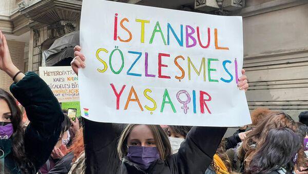 8 Mart - taksim - Sputnik Türkiye