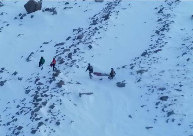 Hasan Dağı'nda mahsur kalan 2 kadın dağcı
