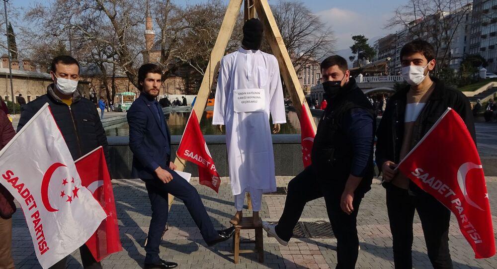 Bursa, temsilî kadın katili idam, darağacı