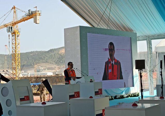 Türkiye'nin ilk nükleer enerji santrali olacak Akkuyu Nükleer Güç Santrali'nin (NGS) üçüncü güç ünitesinin temel atma töreni