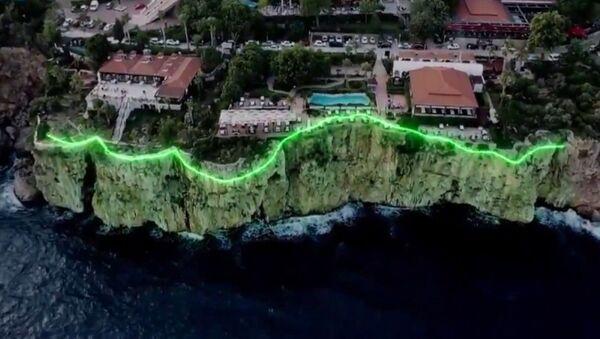 Antalya'da falezlerin ışıklandırılma projesi - Sputnik Türkiye
