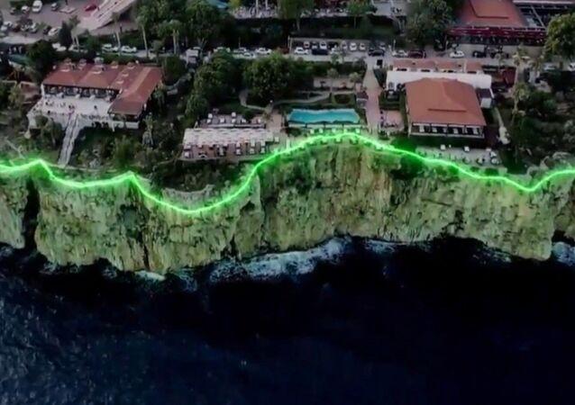 Antalya'da falezlerin ışıklandırılma projesi