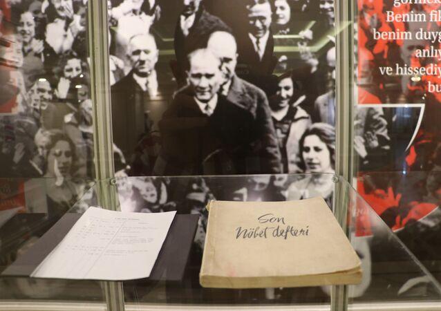 Atatürk'ün sağlık raporları anestezi tarihi sergisinde