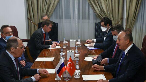 Katar - Rusya - Türkiye - Lavrov - Çavuşoğlu - Sputnik Türkiye