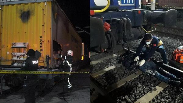 Gizlice trene binmek isteyen 2 Suriyeli ağır yaralandı - Sputnik Türkiye