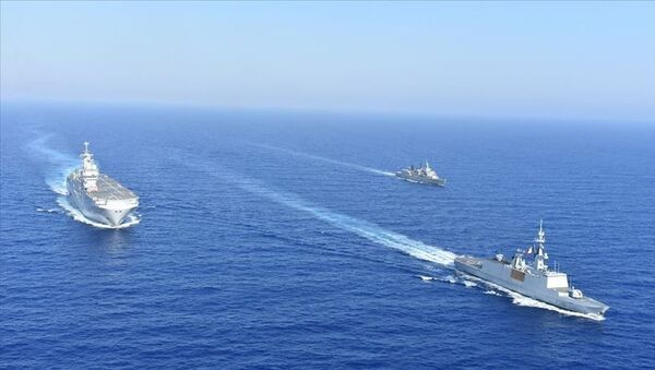İsrail, Fransa, Yunanistan ve Güney Kıbrıs'ın Akdeniz'de düzenlediği ortak deniz tatbikatı tamamlandı - Sputnik Türkiye