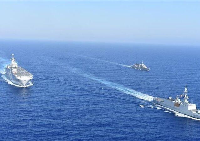 İsrail, Fransa, Yunanistan ve Güney Kıbrıs'ın Akdeniz'de düzenlediği ortak deniz tatbikatı tamamlandı