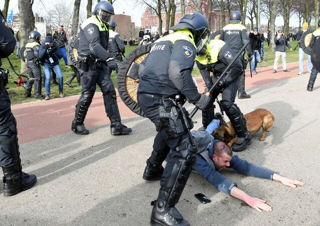 Hollanda protesto