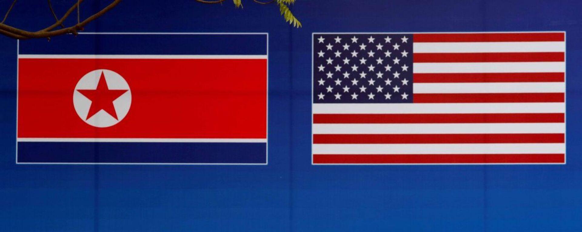 Kuzey Kore - ABD - bayrak - Sputnik Türkiye, 1920, 15.09.2021