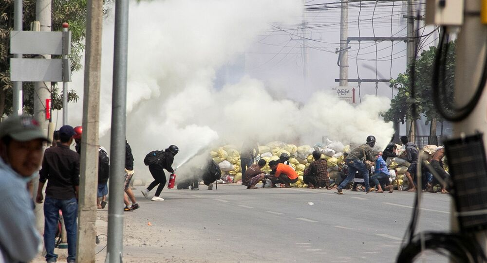 Myanmar- Protesto