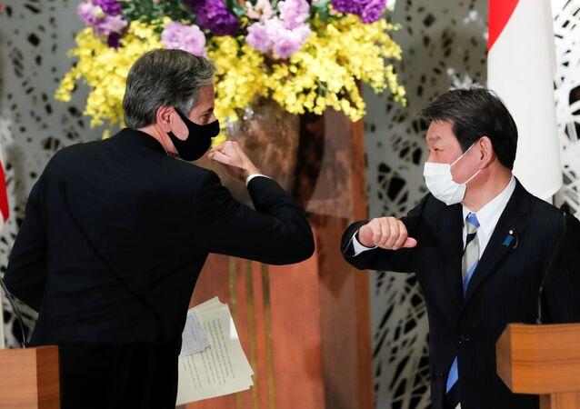 ABD Dışişleri Bakanı Antony Blinken ve Japon mevkidaşı Motegi Toşimitsu