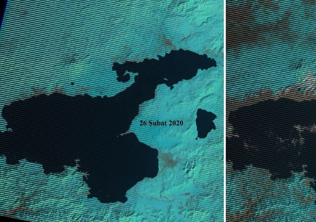 Van'daki kuraklık tehlikesi uydu görüntüleri