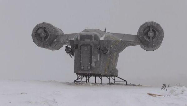 Yakutistan'da bir tepeye 'The Mandalorian' dizisindeki uzay gemisi 'indi' - Sputnik Türkiye