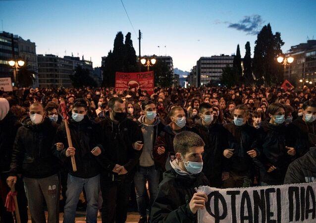 Yunanistan protesto