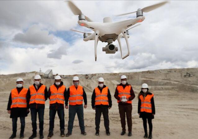 harita mühendisi, drone, maden sahaları