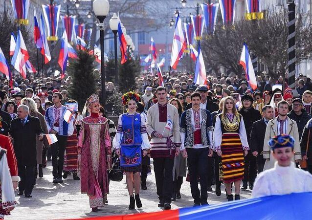 Kırım'ın Rusya'ya bağlanışının 7. yıldönümü kutlanıyor