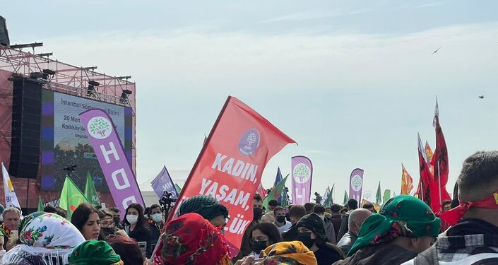 İstanbul Yenikapı miting alanında Nevruz kutlamaları