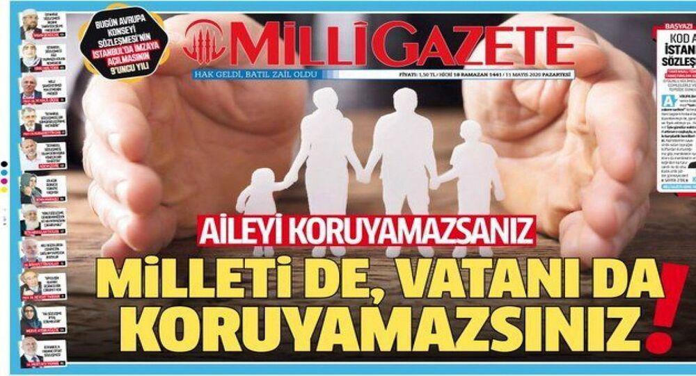 Milli Gazete, İstanbul Sözleşmesi'nin feshini 'tarihi başarı' olarak nitelendirdi