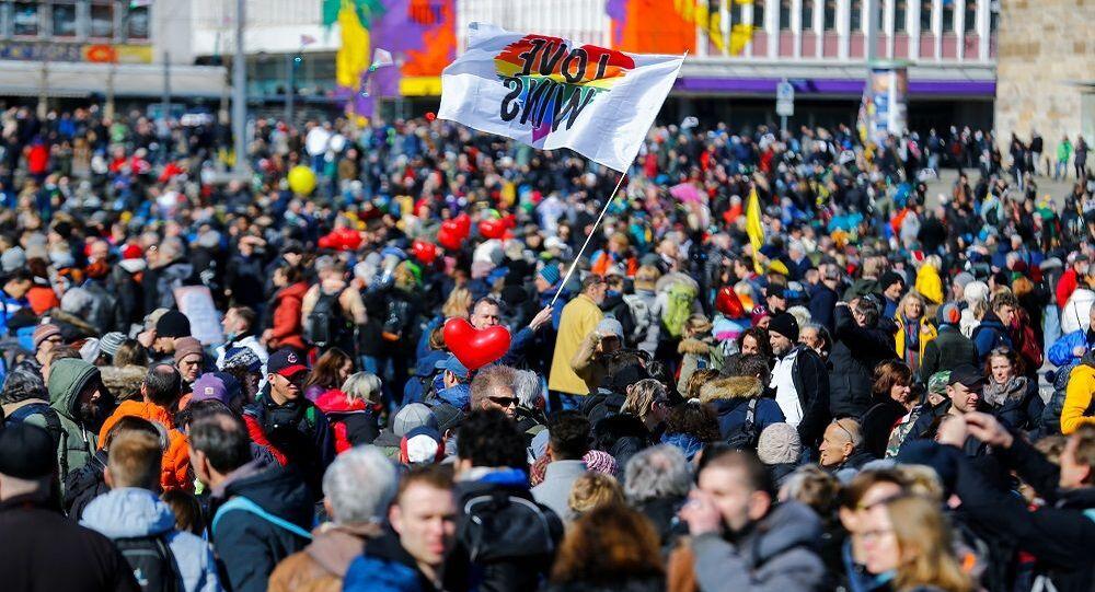 Kassel-Almanya-Kovid-19 karşıtı protesto
