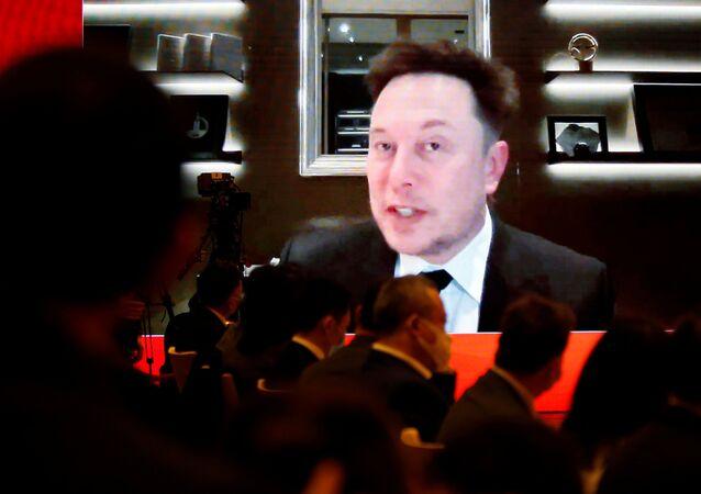 Tesla CEO'su Elon Musk, Çin Kalkınma Forumu'na video bağlantısıyla seslenirken