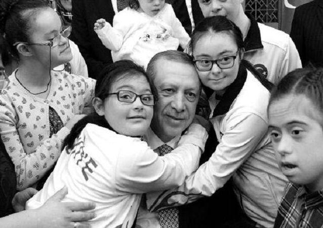 Recep Tayyip Erdoğan, down sendromlu çocuklar