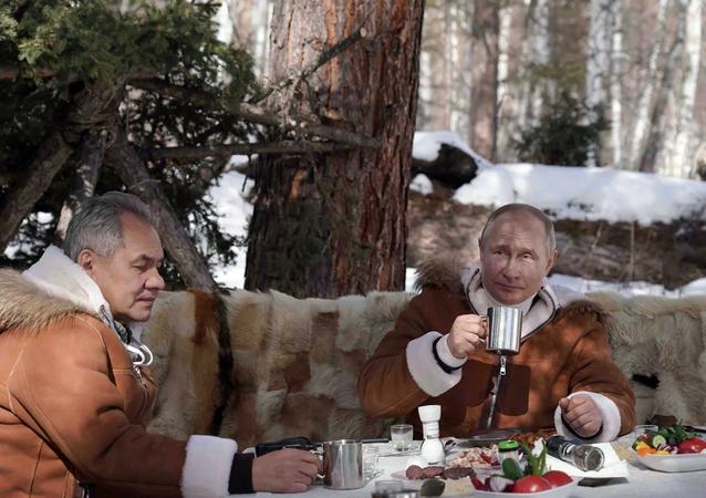 Rusya Devlet Başkanı Vladimir Putin, Rusya Savunma Bakanı Sergey Şoygu ile bu haftasonu dinlenmek için Sibirya'ya gitti.