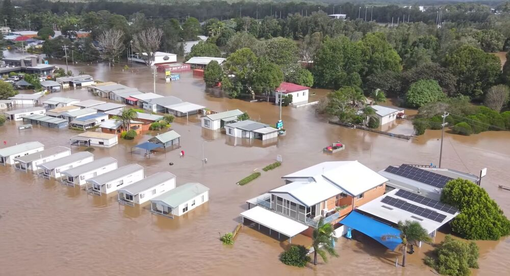 Avustralya, Yeni Güney Galler,  Port Macquarie, sel felaketi