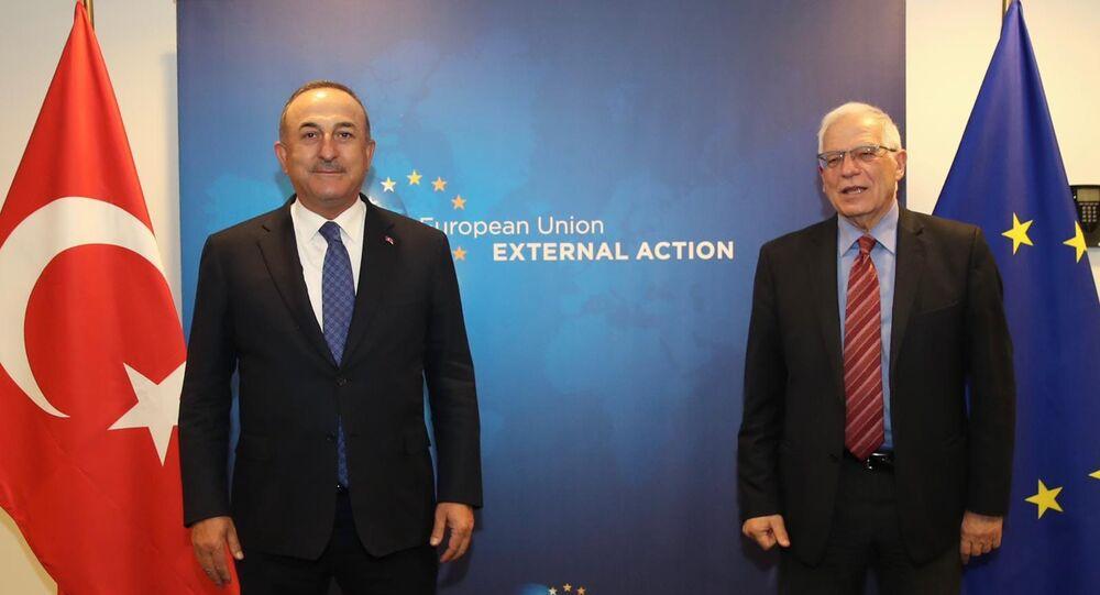 Dışişleri Bakanı Mevlüt Çavuşoğlu, AB Dış İlişkiler ve Güvenlik Politikası Yüksek Temsilcisi Josep Borrell