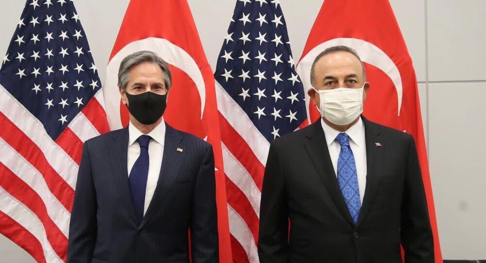 Dışişleri Bakanı Mevlüt Çavuşoğlu ve ABD Dışişleri Bakanı Blinken
