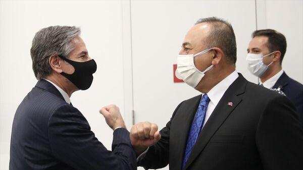 Dışişleri Bakanı Mevlüt Çavuşoğlu, ABD Dışişleri Bakanı Antony Blinken ile görüştü - Sputnik Türkiye