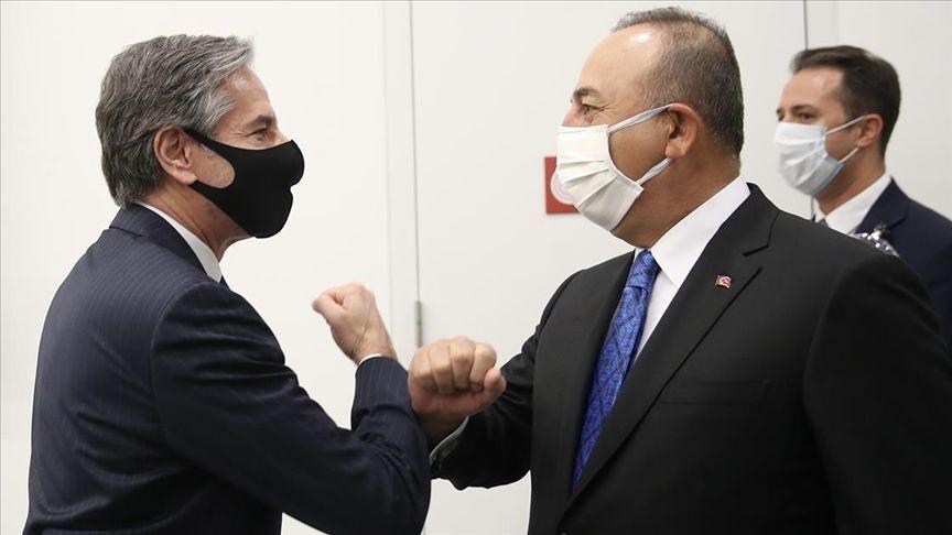 Antony Blinken-Mevlüt Çavuşoğlu NATO Dışişleri Bakanları toplantısında