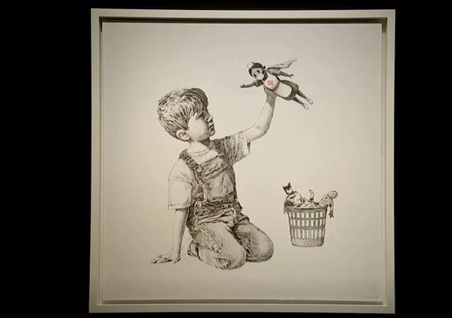 Banksy'nin 'Oyun Değiştirici' (Game Changer) isimli resmi