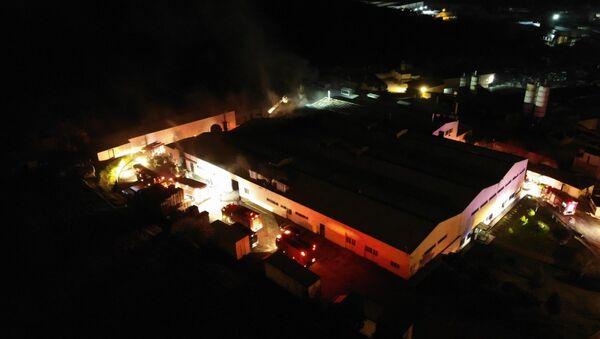 İstanbul'da gıda üretim tesisinde yangın - Sputnik Türkiye