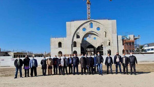 Fransa'nın Strasbourg kentinde İslam Toplumu Milli Görüş'e (IGMG) ait Eyüp Sultan Camisi'nin inşaat çalışmalarından - Sputnik Türkiye