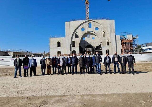 Fransa'nın Strasbourg kentinde İslam Toplumu Milli Görüş'e (IGMG) ait Eyüp Sultan Camisi'nin inşaat çalışmalarından