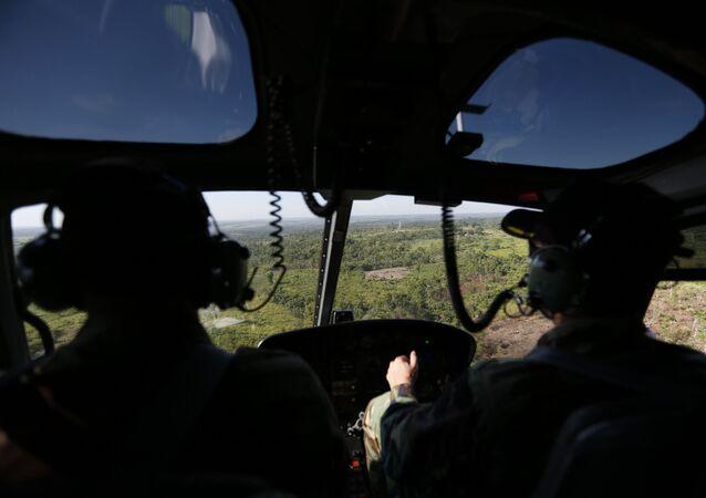 Uruguay'da Kovid-19 aşılarını taşıyan askeri helikopter düştü