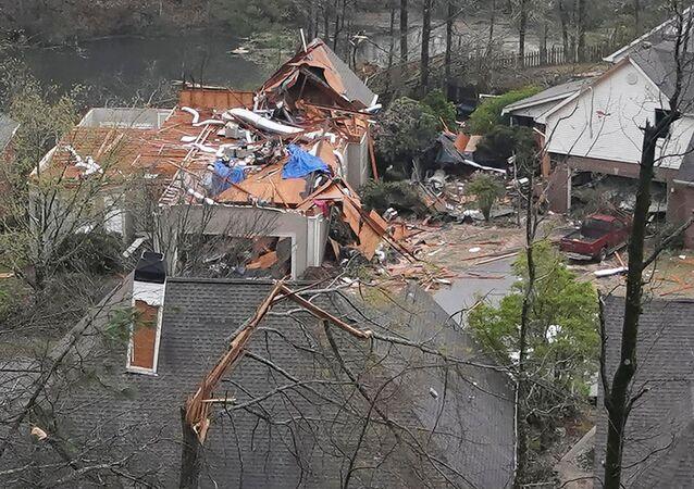 ABD'nin Alabama eyaletinde meydana gelen hortum