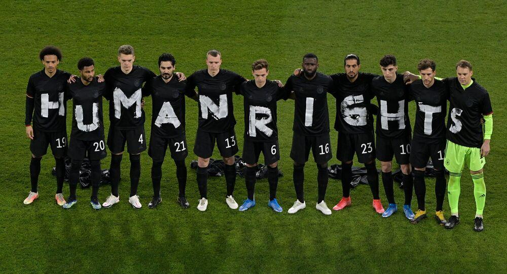 Alman milli takım futbolcularından Katar'a 'insan hakları' protestosu